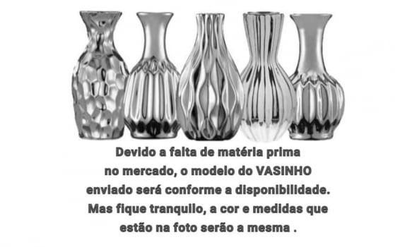 KIT SALA CILINDRO PRATA/ FRASCO DE VIDRO PARA DIFUSOR DE AMBIENTE + BANDEJA LUXO 18CM + 2 PÁSSAROS + VASO COM ARRANJO + 1 REFIL 250ML